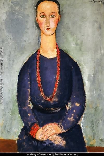Woman in a Red Necklace