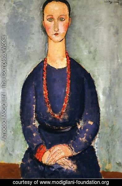 Amedeo Modigliani - Woman in a Red Necklace
