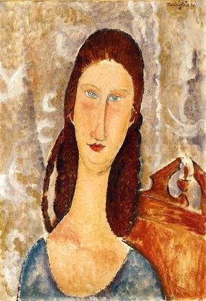 Amedeo Modigliani - Portrait of Jeanne Hebuterne IV