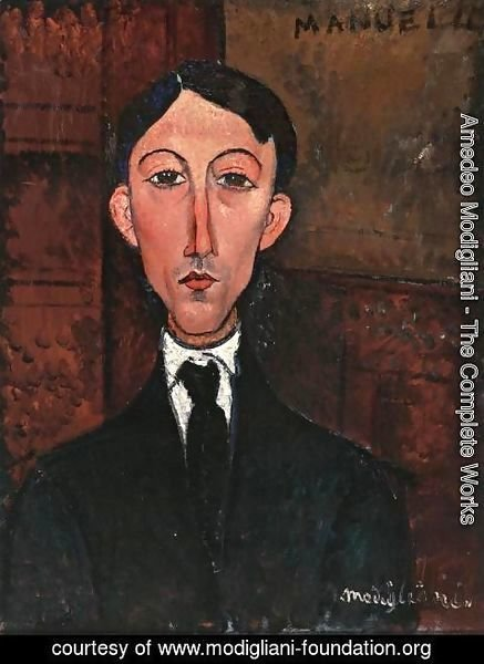 Amedeo Modigliani - Bust of Manuel Humbert