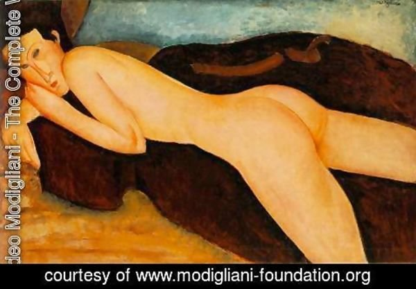 Amedeo Modigliani - Reclining Nude from the Back
