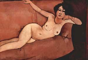 Amedeo Modigliani - Act on a sofa (Almaiisa)