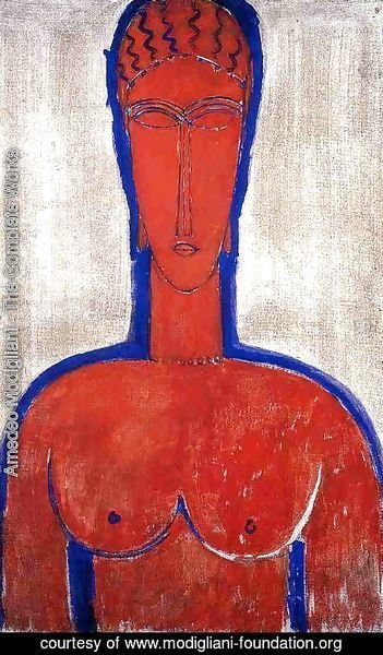 Amedeo Modigliani - Big Red Buste (aka loopold II)