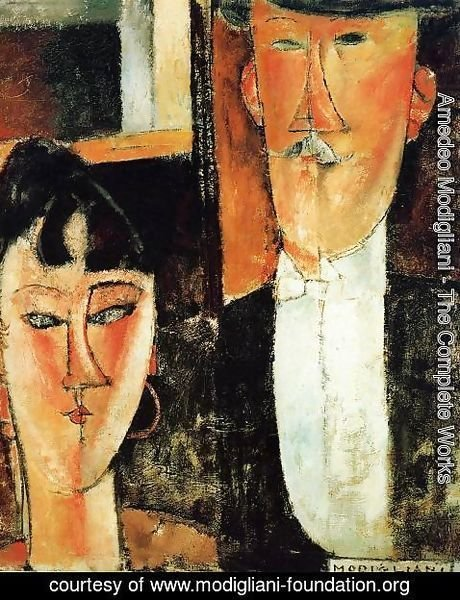 Amedeo Modigliani - Bride and Groom (aka The Newlyweds)