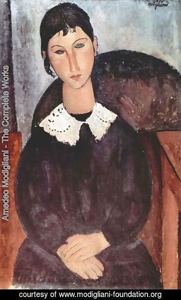Amedeo Modigliani - Elvira with white collar
