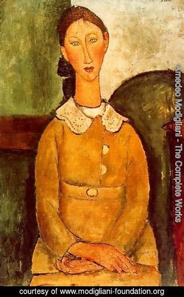 Amedeo Modigliani - Girl in the yellow dress