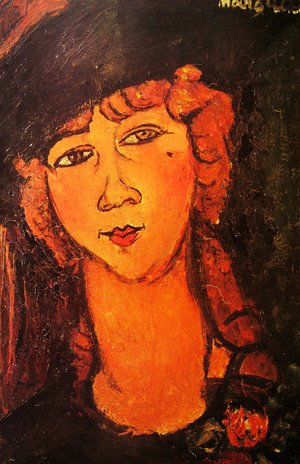 Amedeo Modigliani - Head of a Woman in a Hat (aka Lolotte)