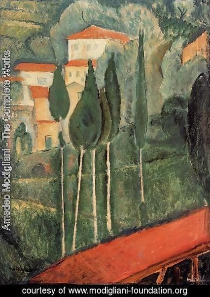 Amedeo Modigliani - Landscape, Southern France