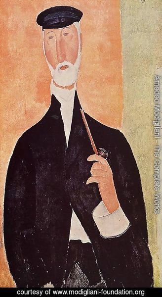 Amedeo Modigliani - Man with a Pipe (aka The Man from Nice)