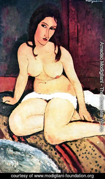 Amedeo Modigliani - nude seated