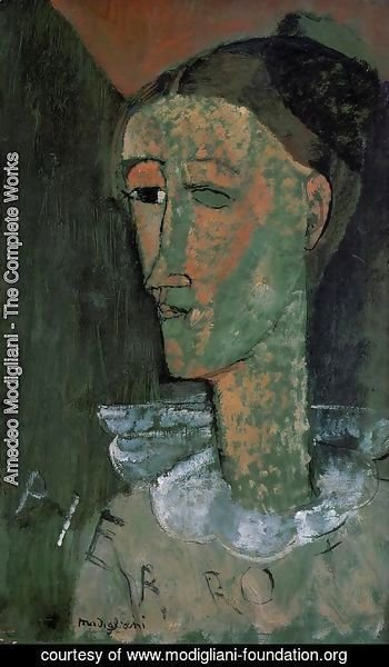 Amedeo Modigliani - Pierrot (aka Self Portrait as Pierrot)