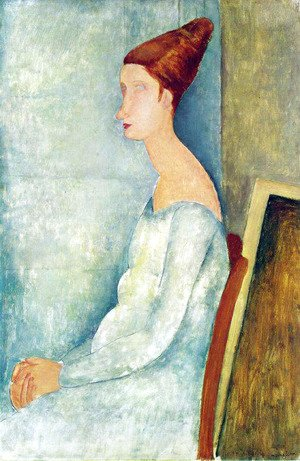 Amedeo Modigliani - Portrait of Jeanne Hebuterne Seated in Profile