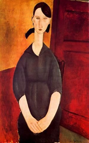 Amedeo Modigliani - Portrait of Paulette Jourdain