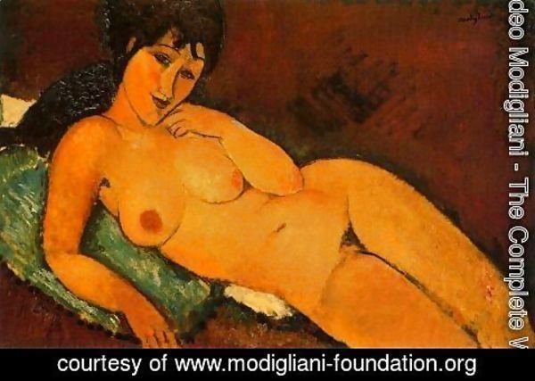 Amedeo Modigliani - reclining nude 1917