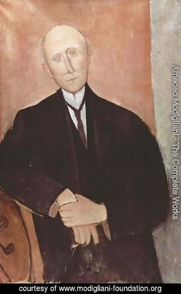 Readhead Young Man by Amedeo Modigliani   Oil Painting