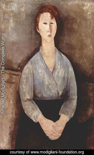 Amedeo Modigliani - Seated Woman with a blue blouse