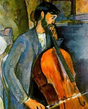 Amedeo Modigliani - The Cellist 1