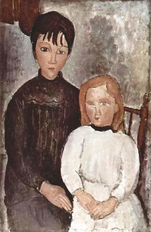 Amedeo Modigliani - Two girls