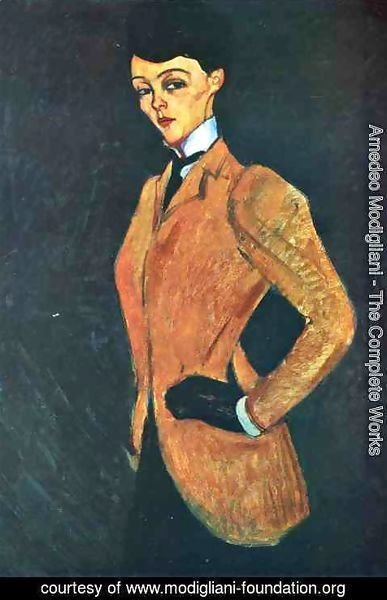 Amedeo Modigliani - Woman in Yellow Jacket (The Amazon)