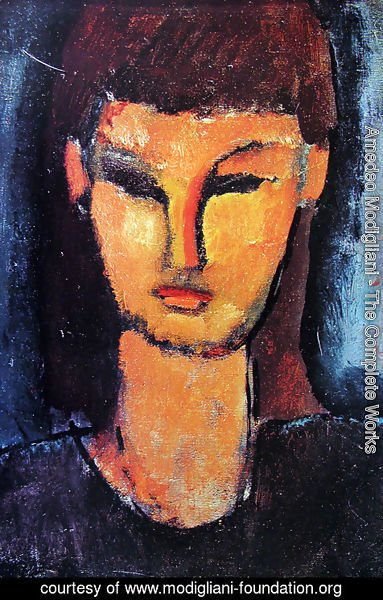 Amedeo Modigliani - Head of a young woman 2