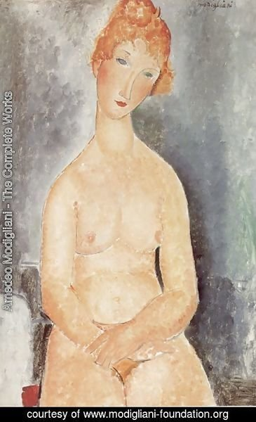 Amedeo Modigliani - Seated Nude 2