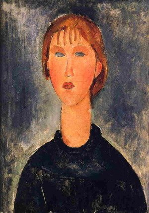 Amedeo Modigliani - Bust Length Portrait of Blonde Girl 1919