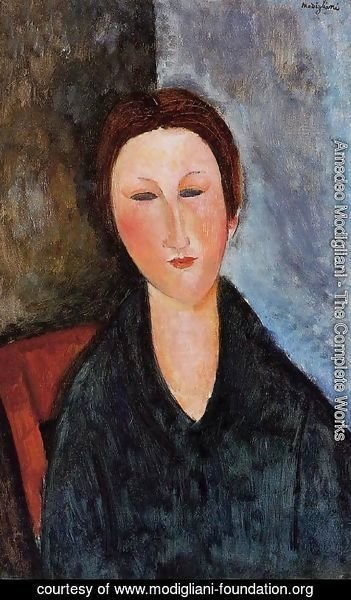 Amedeo Modigliani - Bust of a Young Woman (aka Mademoiselle Marthe) 1916 1917