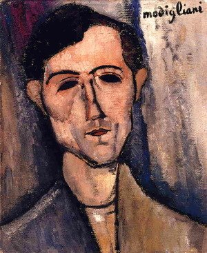Amedeo Modigliani - Man's Head (aka Portrait of a Poet) 1915