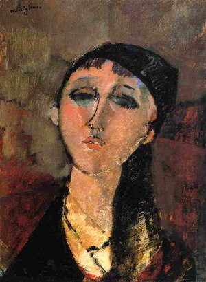 Amedeo Modigliani - Portrait of a Young Girl (aka Louise) 1915