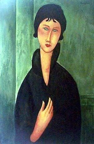 Amedeo Modigliani - Woman with Blue Eyes 2