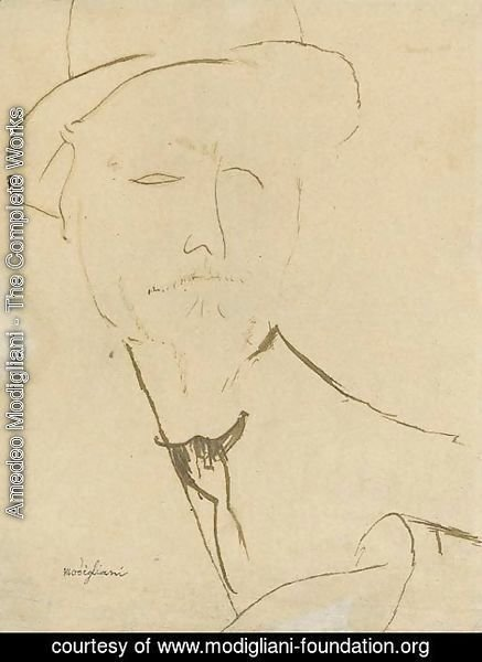 Amedeo Modigliani - Portrait d'homme
