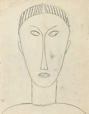 Amedeo Modigliani - Tete De Face