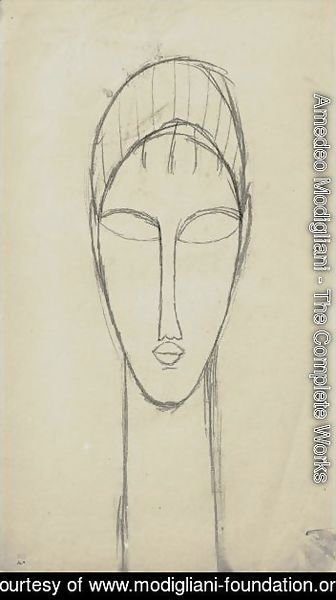 Amedeo Modigliani - Tete De Face 2