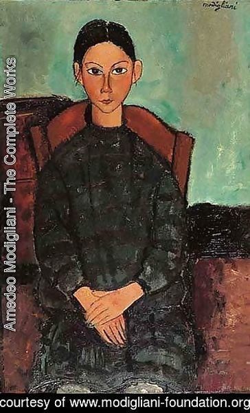 Amedeo Modigliani - Fillette Assise En Robe