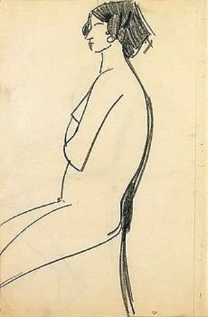 Amedeo Modigliani - Woman sitting