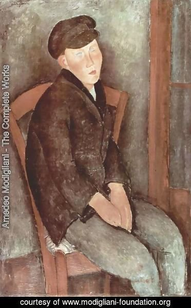 Amedeo Modigliani - Sitting boy with cup