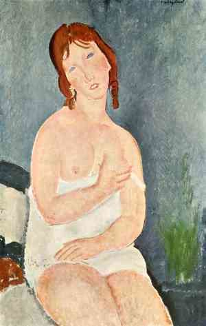 Amedeo Modigliani - Young Woman in a Shirt (The Little Milkmaid)