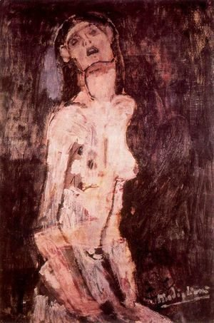 Amedeo Modigliani - A suffering nude