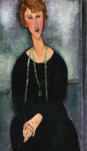 Amedeo Modigliani - Woman with a Green Necklace (Madame Menier)