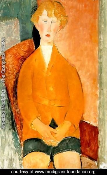 Amedeo Modigliani - Boy in Shorts