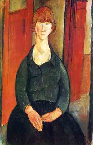Amedeo Modigliani - Flower vendor
