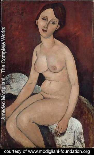 Amedeo Modigliani - Seated nude 3