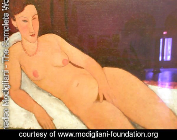 Amedeo Modigliani - Nude with Coral Necklace