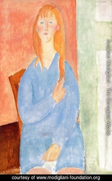 Amedeo Modigliani - Girl in Blue