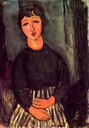 Amedeo Modigliani - A young girl