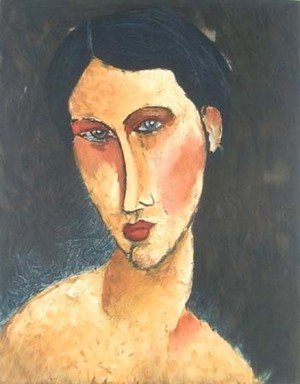 Amedeo Modigliani - Young Girl with Blue Eyes