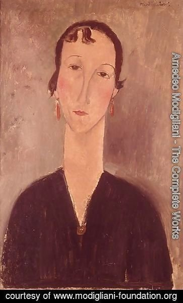 Amedeo Modigliani - Woman with earrings