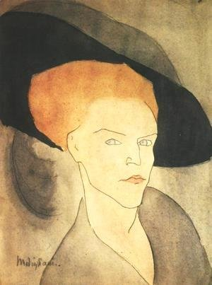 Head Of A Woman With A Hat