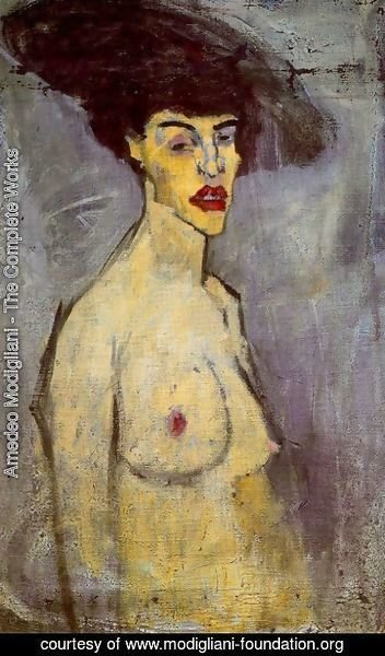 Amedeo Modigliani - Female Nude With Hat