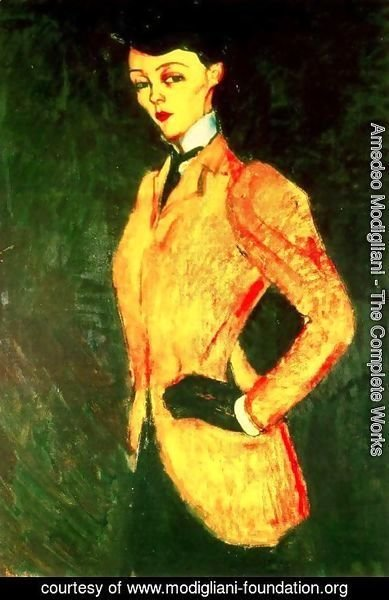 Amedeo Modigliani - Woman In Yellow Jacket   The AmazonWoman In Yellow Jacket   The Amazon